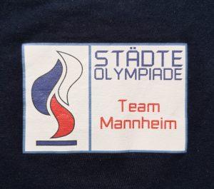 """Logo der Städteolympiade und """"Team Mannheim"""""""